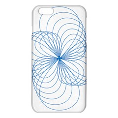 Blue Spirograph Pattern Drawing Design Iphone 6 Plus/6s Plus Tpu Case by Nexatart