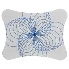 Blue Spirograph Pattern Drawing Design Jigsaw Puzzle Photo Stand (bow) by Nexatart