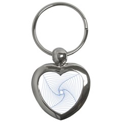 Spirograph Pattern Drawing Design Key Chains (heart)  by Nexatart