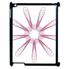 Spirograph Pattern Circle Design Apple Ipad 2 Case (black) by Nexatart