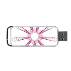 Spirograph Pattern Circle Design Portable Usb Flash (two Sides) by Nexatart