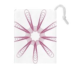 Spirograph Pattern Circle Design Drawstring Pouches (extra Large) by Nexatart