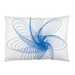 Spirograph Pattern Drawing Design Blue Pillow Case (two Sides) by Nexatart