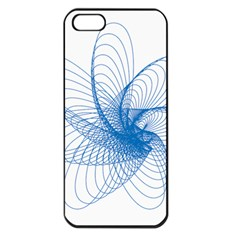Spirograph Pattern Drawing Design Blue Apple Iphone 5 Seamless Case (black) by Nexatart