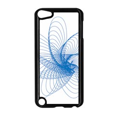 Spirograph Pattern Drawing Design Blue Apple Ipod Touch 5 Case (black) by Nexatart