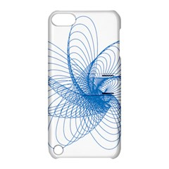 Spirograph Pattern Drawing Design Blue Apple Ipod Touch 5 Hardshell Case With Stand by Nexatart