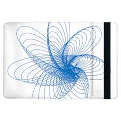 Spirograph Pattern Drawing Design Blue Ipad Air Flip by Nexatart