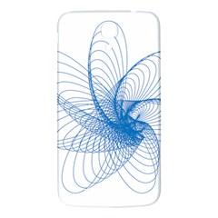 Spirograph Pattern Drawing Design Blue Samsung Galaxy Mega I9200 Hardshell Back Case by Nexatart
