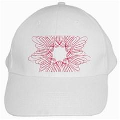 Spirograph Pattern Drawing Design White Cap by Nexatart