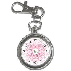 Spirograph Pattern Drawing Design Key Chain Watches by Nexatart