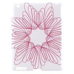 Spirograph Pattern Drawing Design Apple Ipad 3/4 Hardshell Case (compatible With Smart Cover) by Nexatart
