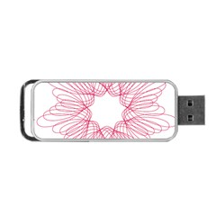 Spirograph Pattern Drawing Design Portable Usb Flash (two Sides) by Nexatart