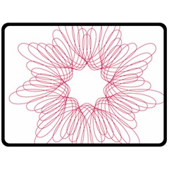Spirograph Pattern Drawing Design Double Sided Fleece Blanket (large)  by Nexatart