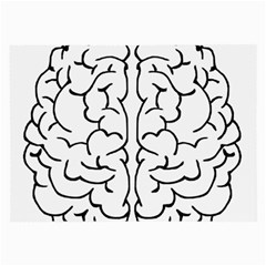 Brain Mind Gray Matter Thought Large Glasses Cloth (2 Side) by Nexatart