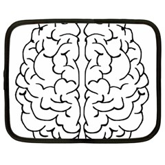 Brain Mind Gray Matter Thought Netbook Case (large) by Nexatart