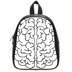 Brain Mind Gray Matter Thought School Bags (small)  by Nexatart