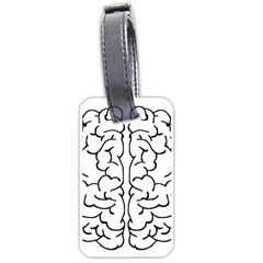 Brain Mind Gray Matter Thought Luggage Tags (one Side)  by Nexatart