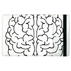 Brain Mind Gray Matter Thought Apple Ipad 2 Flip Case by Nexatart