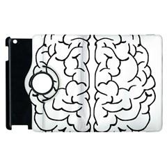 Brain Mind Gray Matter Thought Apple Ipad 2 Flip 360 Case by Nexatart