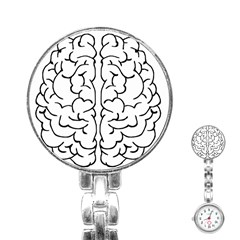 Brain Mind Gray Matter Thought Stainless Steel Nurses Watch by Nexatart