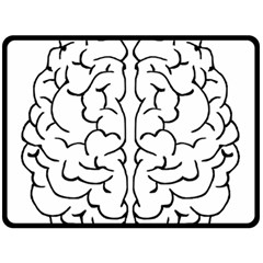 Brain Mind Gray Matter Thought Double Sided Fleece Blanket (large)  by Nexatart