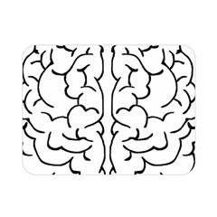 Brain Mind Gray Matter Thought Double Sided Flano Blanket (mini)
