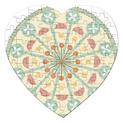 Blue Circle Ornaments Jigsaw Puzzle (heart) by Nexatart