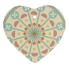 Blue Circle Ornaments Heart Ornament (two Sides) by Nexatart