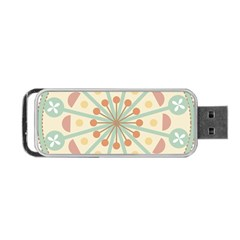 Blue Circle Ornaments Portable Usb Flash (one Side) by Nexatart