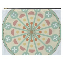 Blue Circle Ornaments Cosmetic Bag (xxxl)  by Nexatart