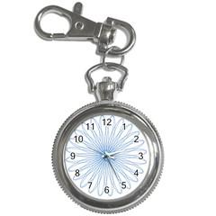 Spirograph Pattern Circle Design Key Chain Watches by Nexatart