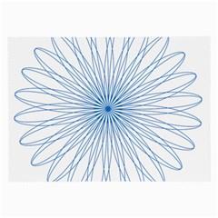Spirograph Pattern Circle Design Large Glasses Cloth by Nexatart