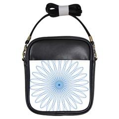 Spirograph Pattern Circle Design Girls Sling Bags by Nexatart
