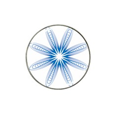 Blue Spirograph Pattern Circle Geometric Hat Clip Ball Marker (4 Pack) by Nexatart