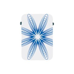 Blue Spirograph Pattern Circle Geometric Apple Ipad Mini Protective Soft Cases by Nexatart