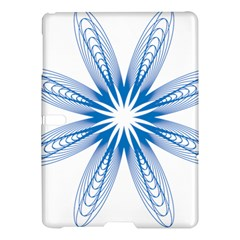 Blue Spirograph Pattern Circle Geometric Samsung Galaxy Tab S (10 5 ) Hardshell Case  by Nexatart