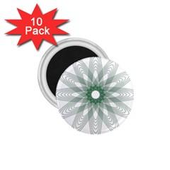 Spirograph Pattern Circle Design 1 75  Magnets (10 Pack)  by Nexatart