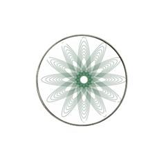 Spirograph Pattern Circle Design Hat Clip Ball Marker (10 Pack) by Nexatart