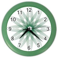 Spirograph Pattern Circle Design Color Wall Clocks by Nexatart