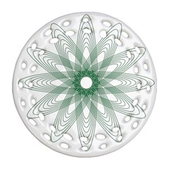 Spirograph Pattern Circle Design Round Filigree Ornament (two Sides) by Nexatart