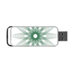 Spirograph Pattern Circle Design Portable Usb Flash (one Side) by Nexatart