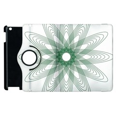 Spirograph Pattern Circle Design Apple Ipad 2 Flip 360 Case by Nexatart