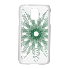 Spirograph Pattern Circle Design Samsung Galaxy S5 Case (white) by Nexatart