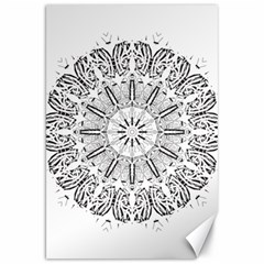 Art Coloring Flower Page Book Canvas 20  X 30   by Nexatart