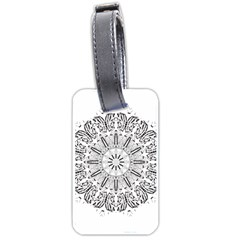 Art Coloring Flower Page Book Luggage Tags (two Sides) by Nexatart