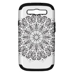 Art Coloring Flower Page Book Samsung Galaxy S Iii Hardshell Case (pc+silicone) by Nexatart
