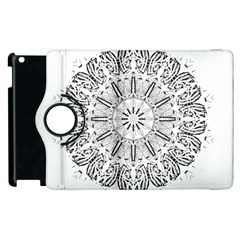 Art Coloring Flower Page Book Apple Ipad 2 Flip 360 Case by Nexatart