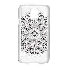 Art Coloring Flower Page Book Samsung Galaxy S5 Case (white) by Nexatart