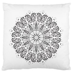 Art Coloring Flower Page Book Standard Flano Cushion Case (two Sides) by Nexatart