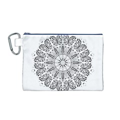 Art Coloring Flower Page Book Canvas Cosmetic Bag (m) by Nexatart